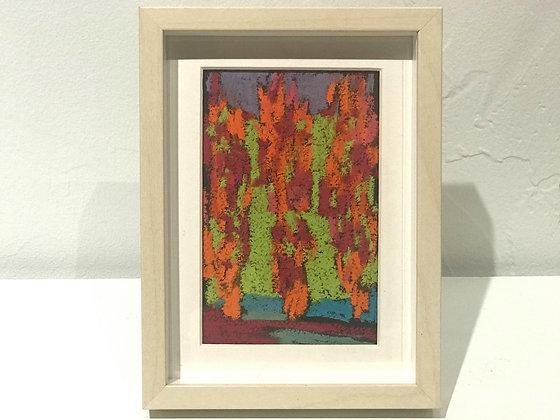 "Marshall Noice   Three Poplars   Pastel on Paper   7.75x5.75"" framed size"