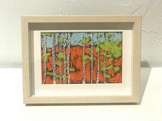 "Marshall Noice | Riverside | Pastel on Paper | 5.75x7.75"" framed size"