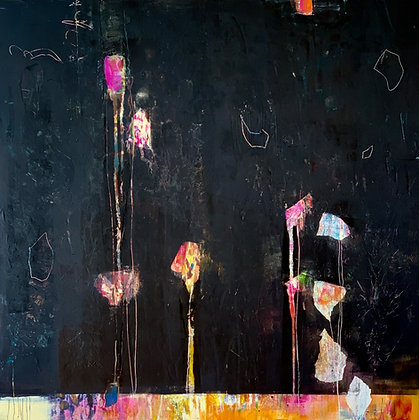 "Pamela Beer | Fleeting  | Oil, Cold Wax on Wood Panel | 30x30"""