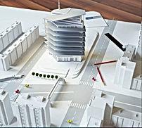 מבנה חדש לפני קבלת טופס 4 של משרדים במרכז העיר חיפה להשכרה או למכירה בשלבי בנייה מתקדמים . המבנה נמצאה  בחיפה ליד היכל המשפט