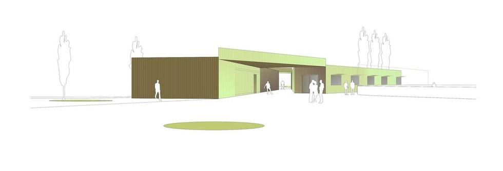 Projektwettbewerb Neubau Garderobengebäude Sportanlage