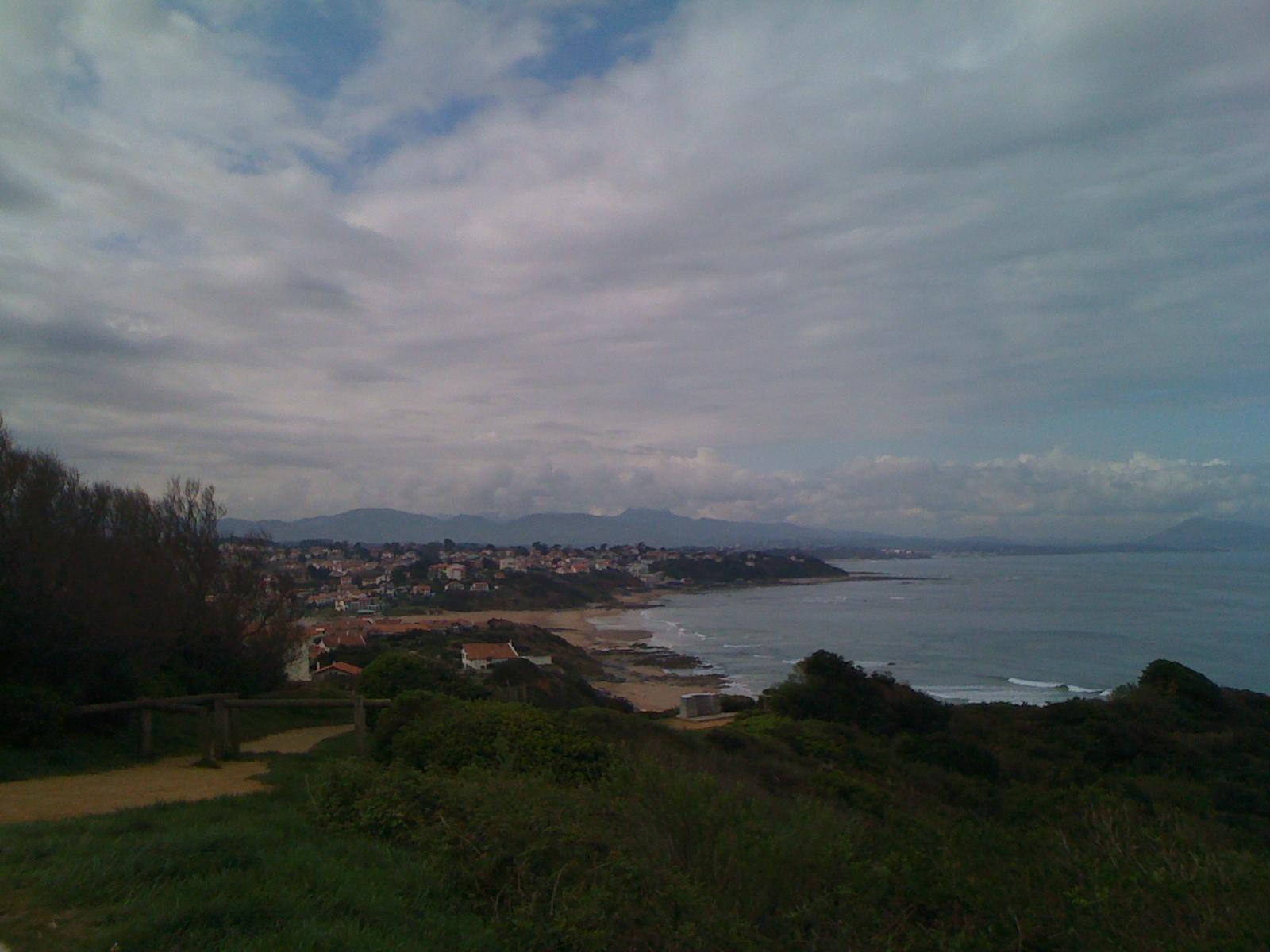 La Côte vu de Bidart