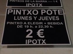 PINTXO POTE tous les jeudis soir