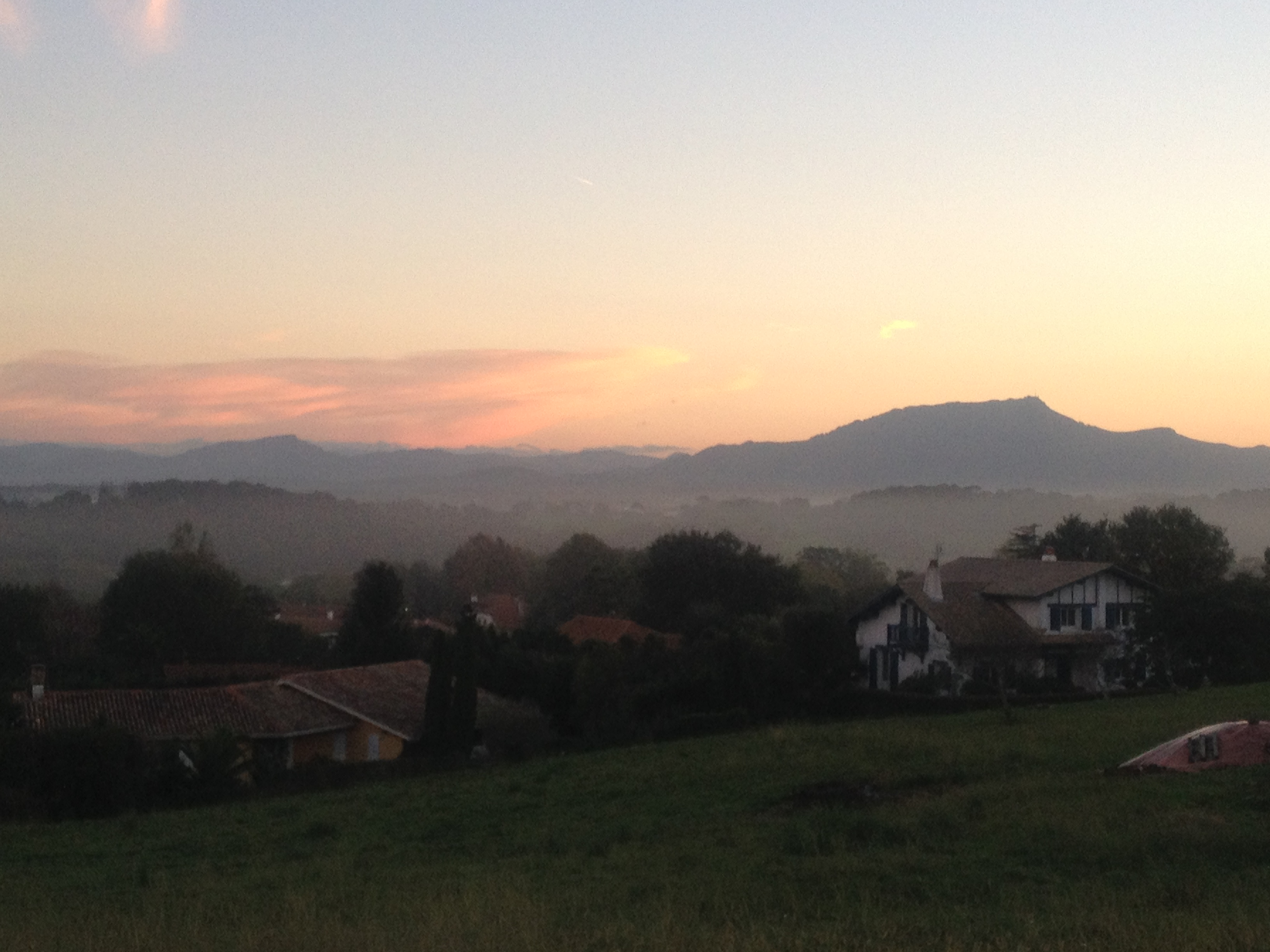 Beautiful view Sunset  Pays Basque