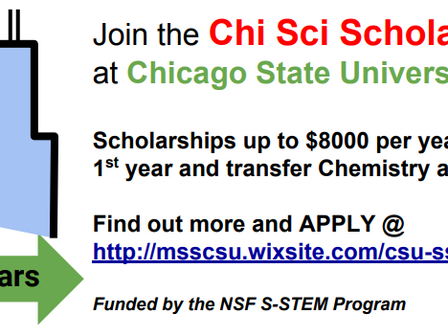 Apply to be part of the 2018 Chi Sci Scholars Cohort!