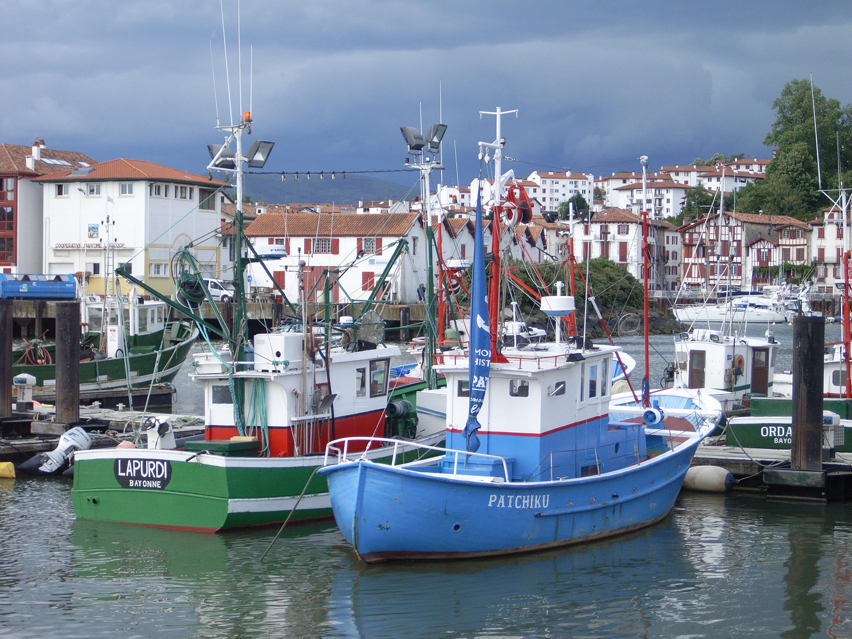 Port de Saint Jean de Luz avec Cibou
