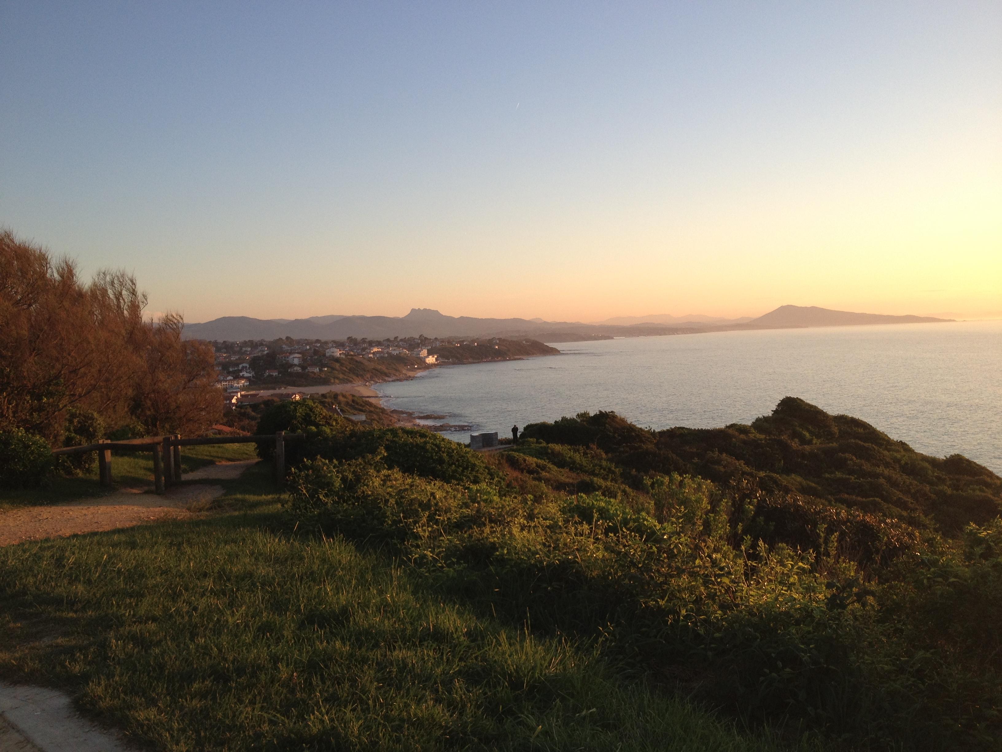 vue de la côte depuis Bidart