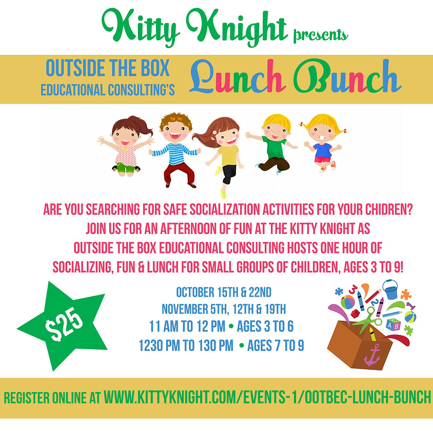 Out of the Box Educational Consulting's Lunch Bunch!
