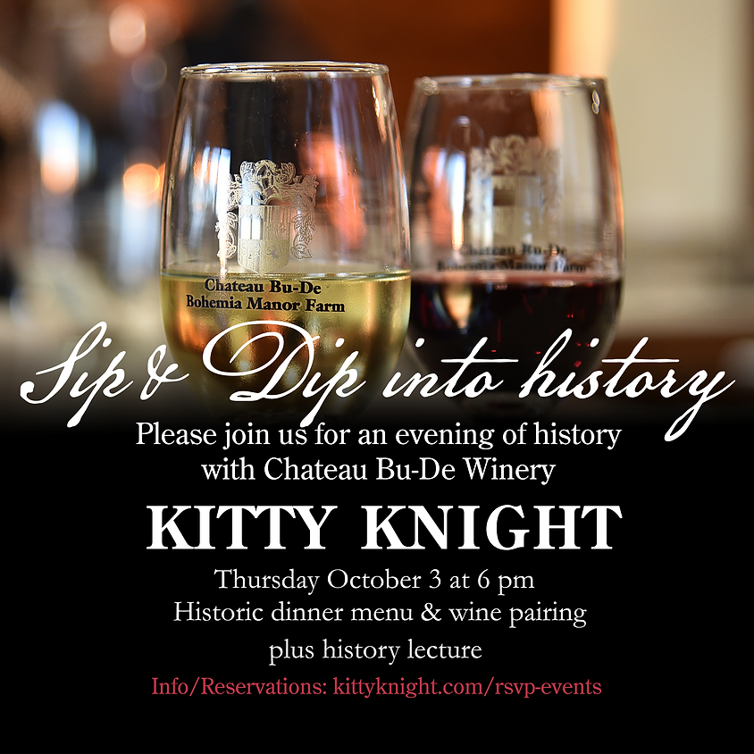 Sip & Dip into History with Chateau Bu-De Winery at Kitty Knight
