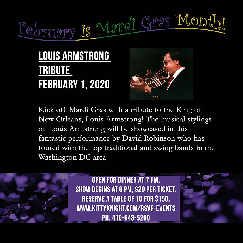 """""""A Tribute to Louis Armstrong"""" by David Robinson"""