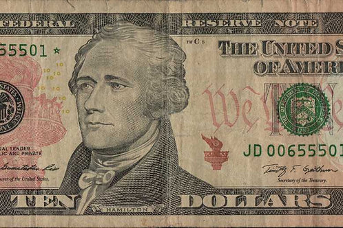 US $10.00 Star Note 2009