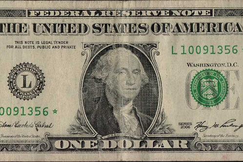 US $1.00 Star Note 2006