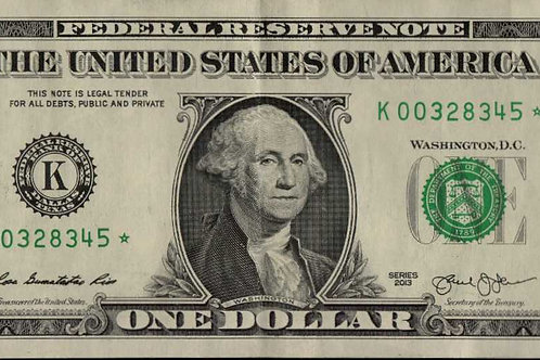 US $1.00 Star Note 2013