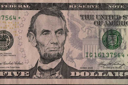 US $5.00 Star Note 2006