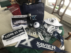 "Xavier Men's Basketball Fan Pack with all kinds of awesome stuff! Even a ""X"" Cookie cutter!"