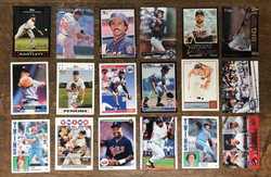 18 MN Twins Cards donated by Justin Skjerven