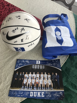 Duke Men's Basketball signed by the entire team!