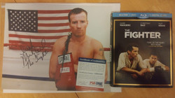 """The Fighter"" Irish Mickey Ward Autographed 8x10 with The Fighter BluRay donated by Corey Hanson"