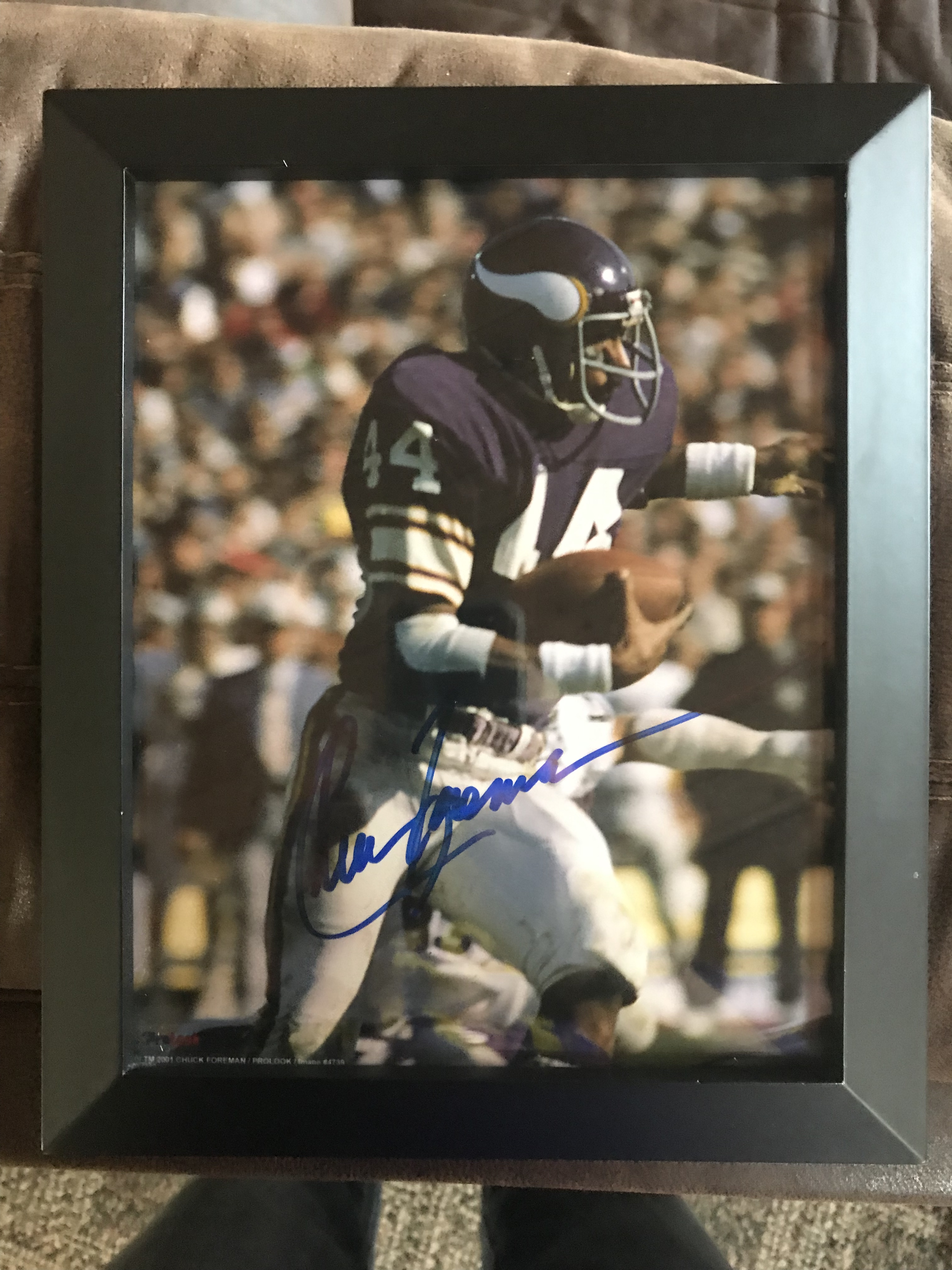 Chuck Foreman Autographed Photo