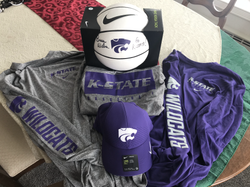 K-State Men's Basketball Spirit Pack with autographed basketball signed by HC Bruce Weber!