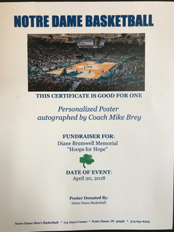 Mike Brey Notre Dame Poster
