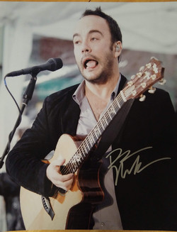 Dave Matthews Autographed 14x16 poster donated by Corey Hanson