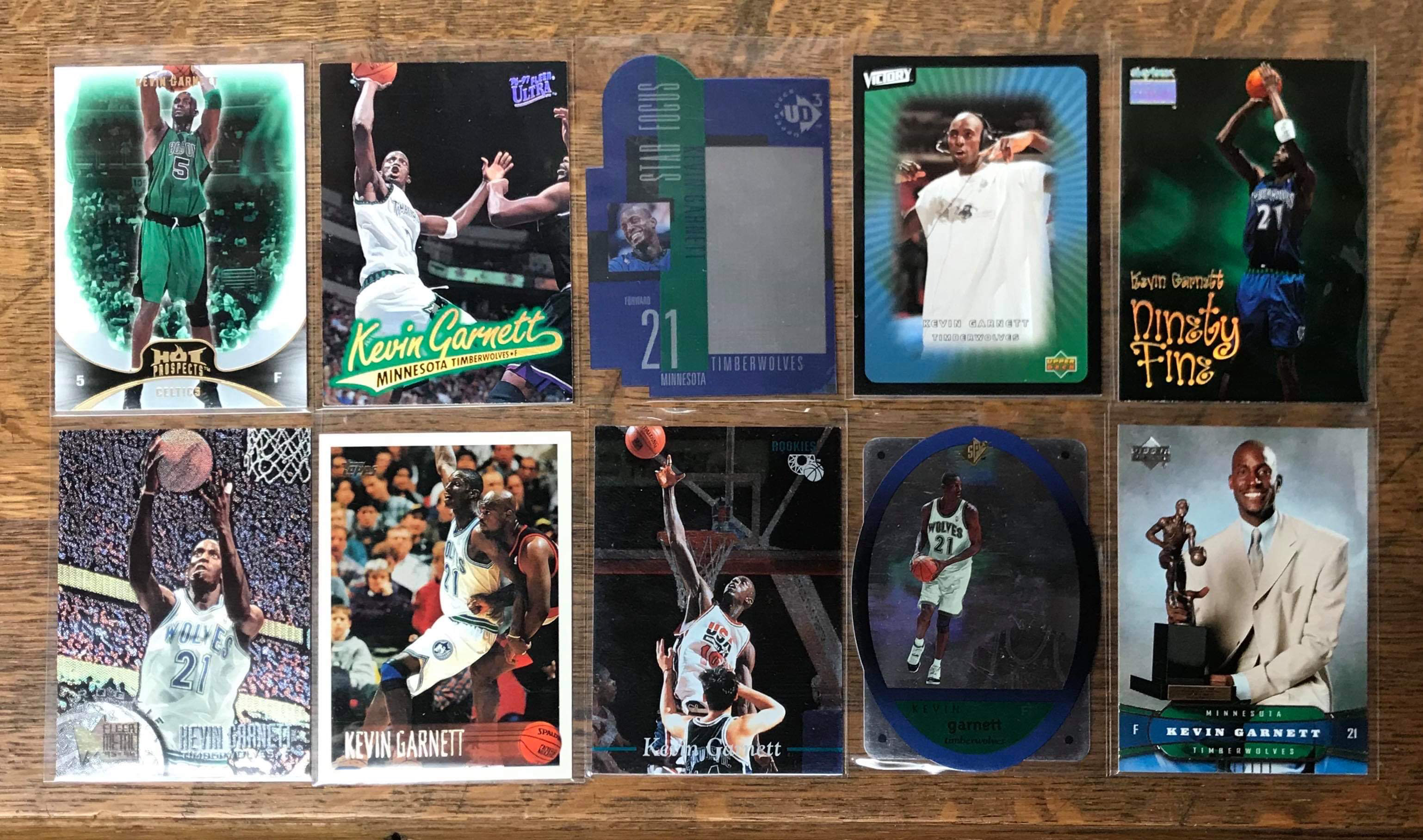 10 - Kevin Garnett Cards donated by Justin Skjerven