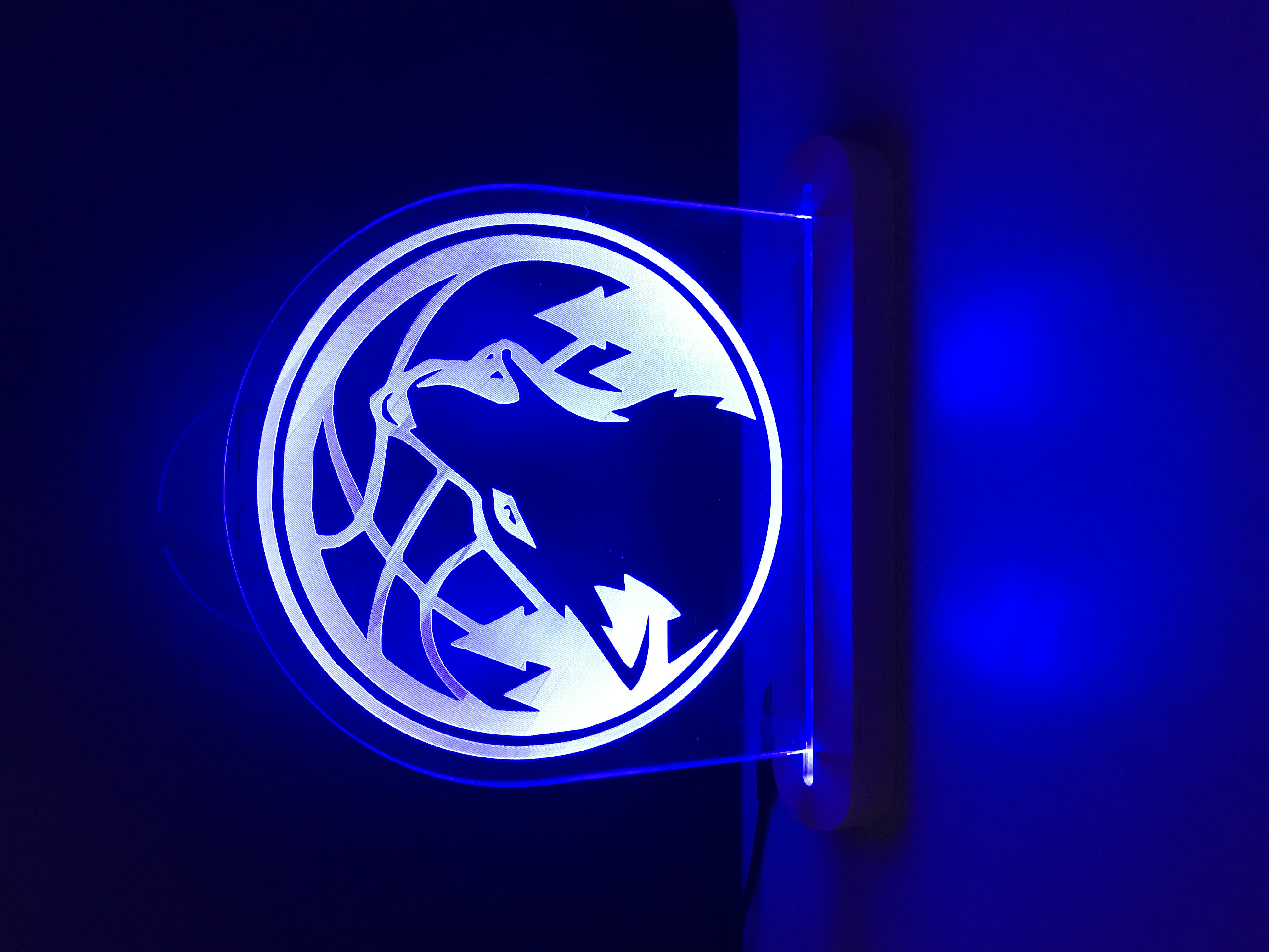 Etched Glass Timberwolves Plaque