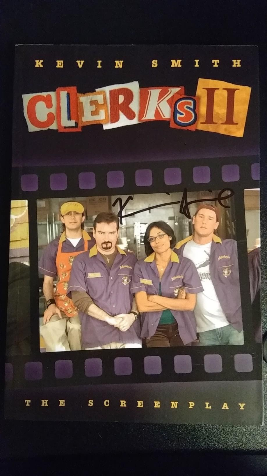 Clerks 2 Screenplay autographed by Kevin Smith