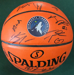 MN Timberwolves Autographed B-Ball