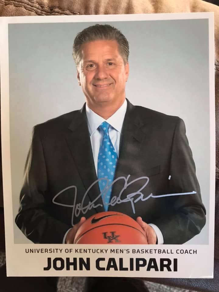 Kentucky MBB Coach John Calipari Autographed 8x10