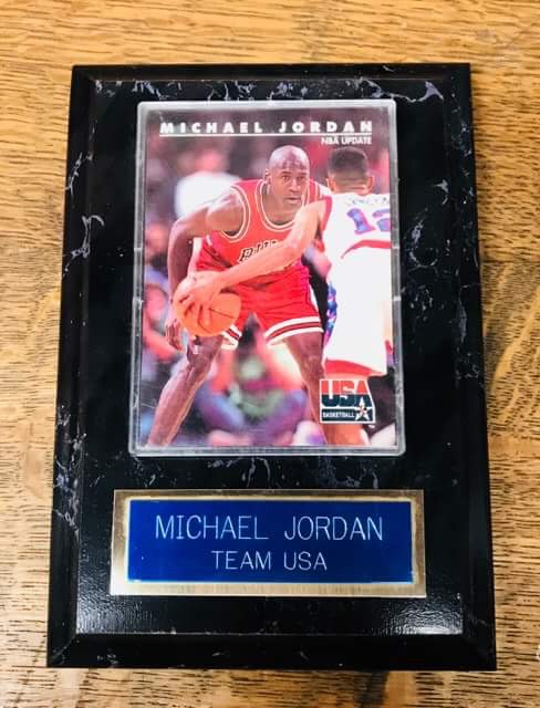 1992 MJ USA Plaque
