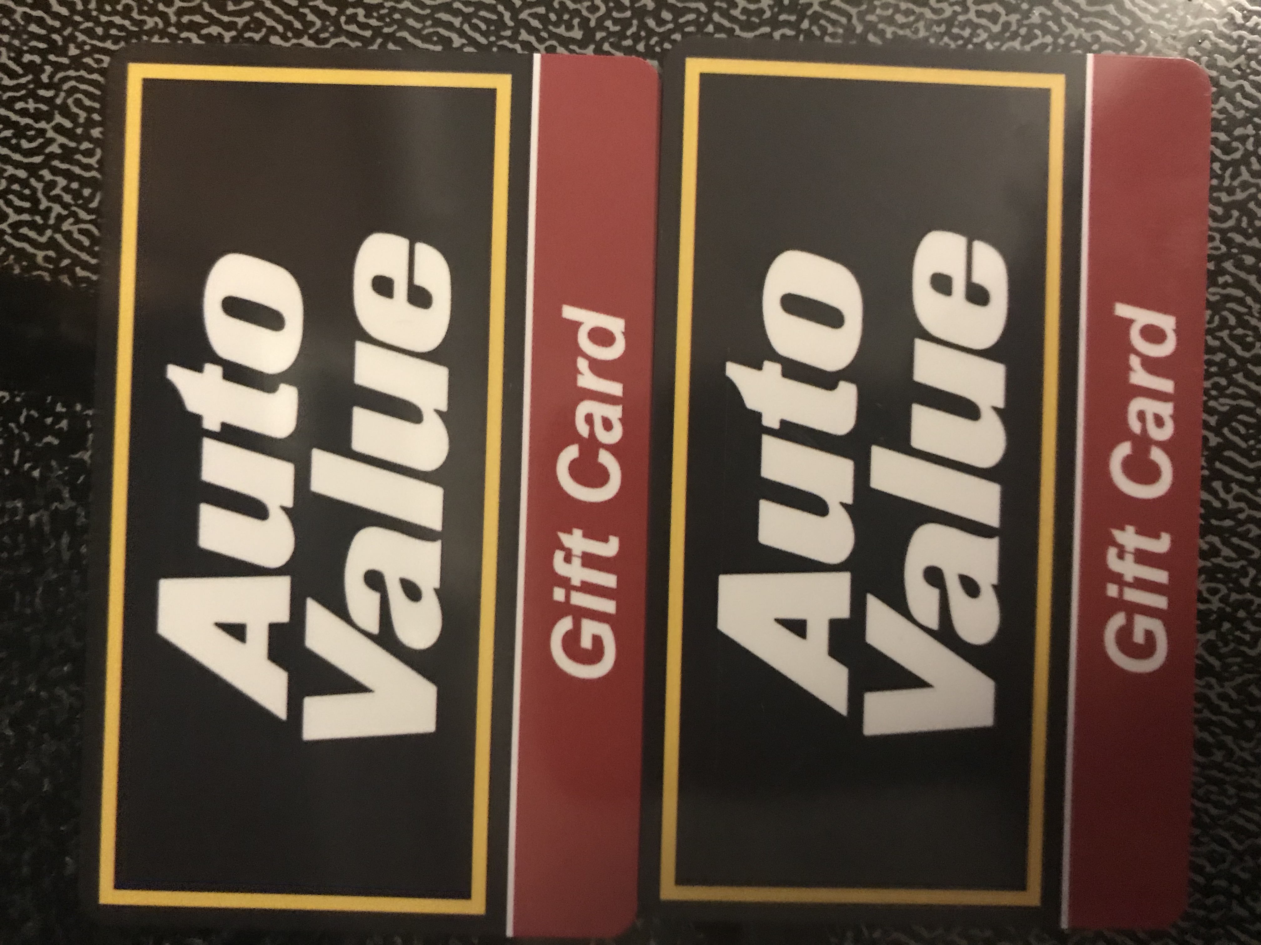 (2) $25 Auto Value Gift Cards