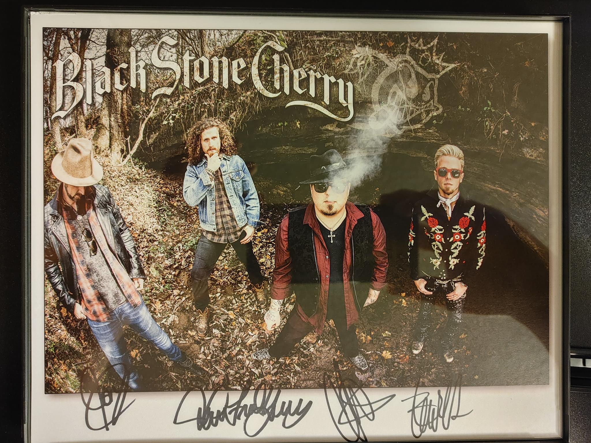 Blackstone Cherry band autographed 8x10 photo donated by Corey Hanson