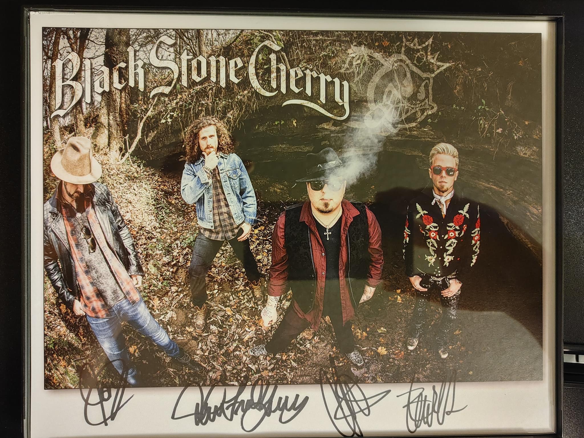 Blackstone Cherry band autographed 8x10 photo donated by Corey Hanson
