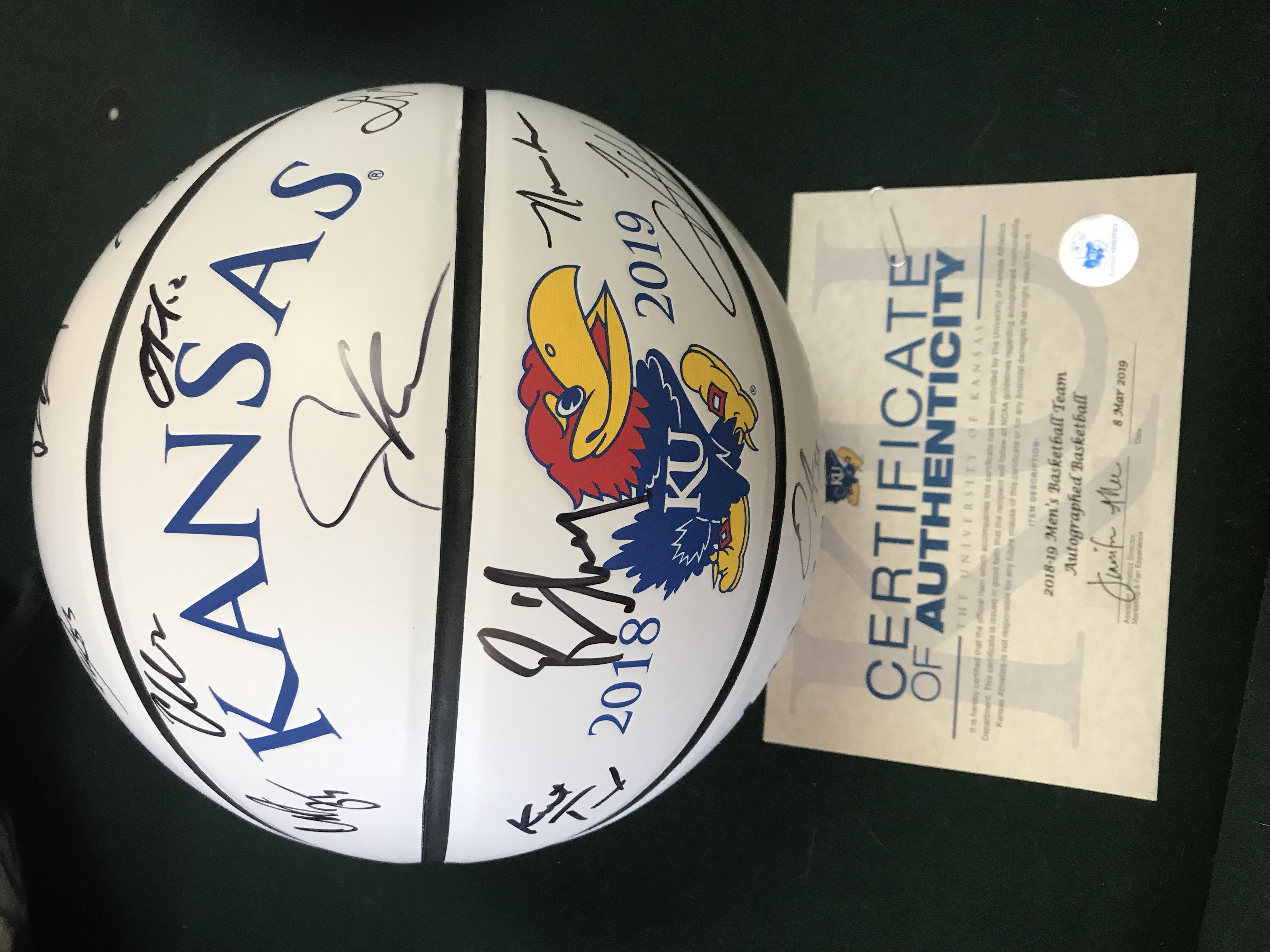 2018/19 KU Team Signed Basketball