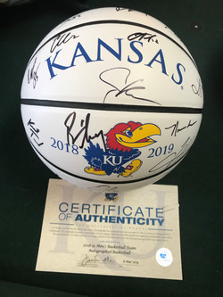 2018/19 KU Team Signed Basketball