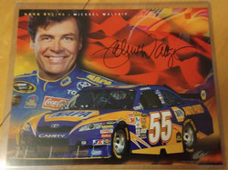 Michael Waltrip autographed 8x10 donated by Corey Hanson