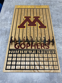 Minnesota Gophers Horse Racing game handcrafted by the the RLF Industrial Tech Class