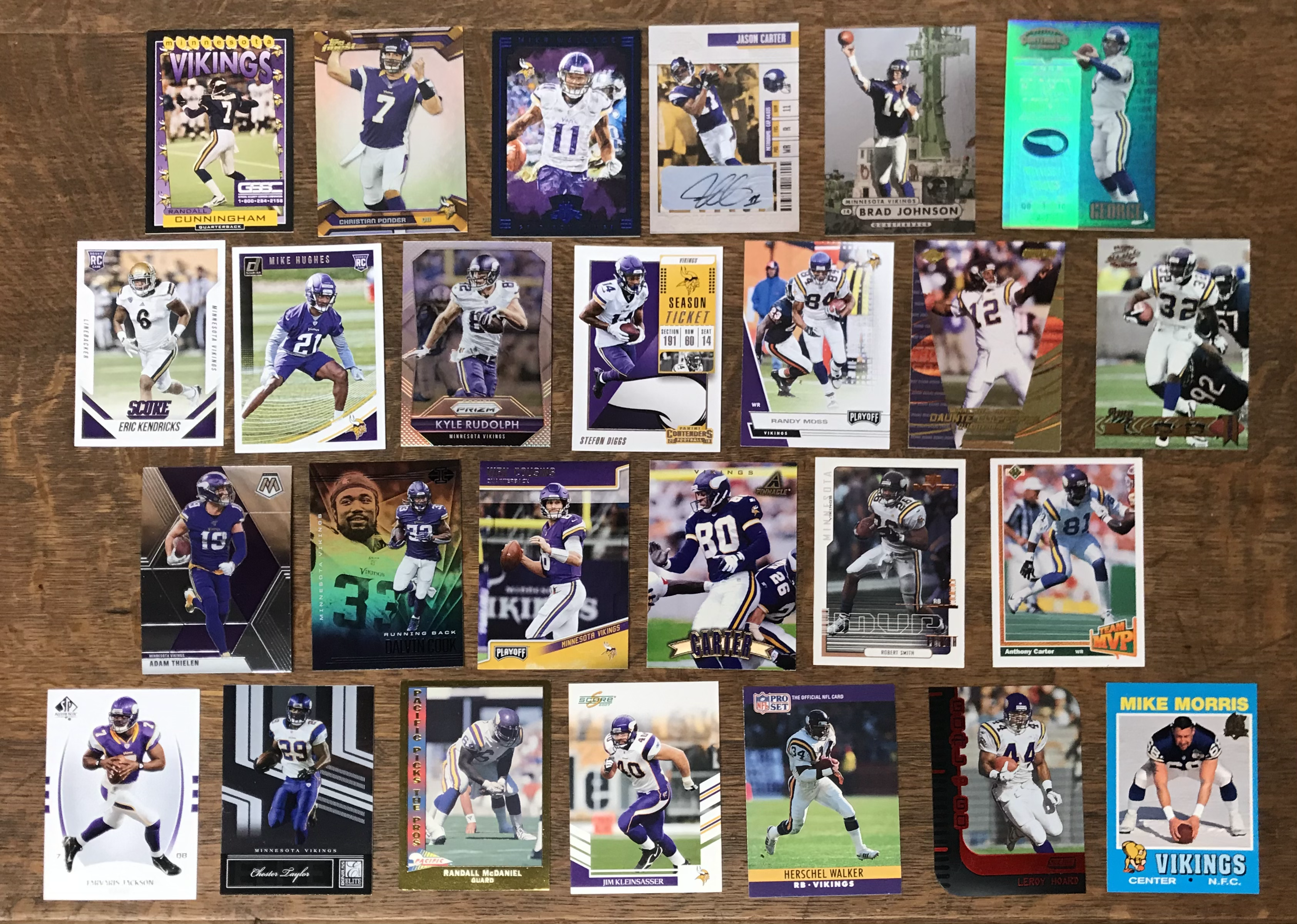 26 MN Vikings Cards donated by Justin Skjerven