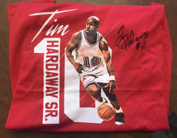 Autographed Red Tim Hardaway Sr. 10 T-Shirt