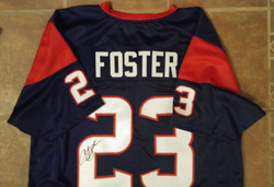Arian Foster Autographed Jersey donated by Corey Hanson