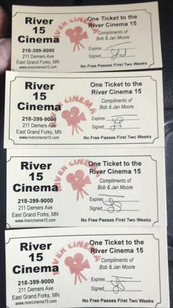 River Cinema 15 Movie Passes