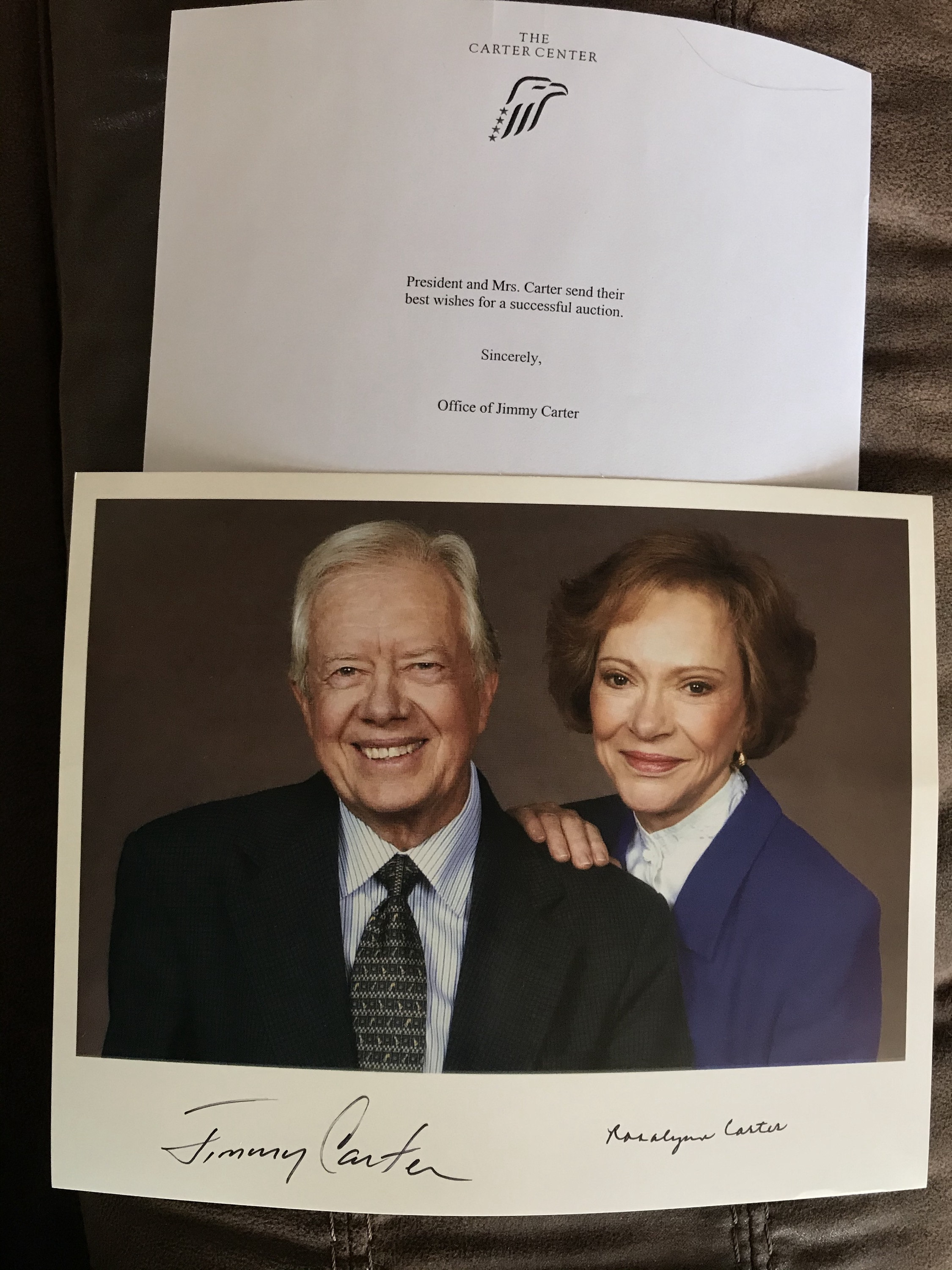 President and Mrs. Carter autographed 8x10 photo!
