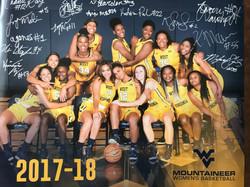 WVU Women's Basketball Poster