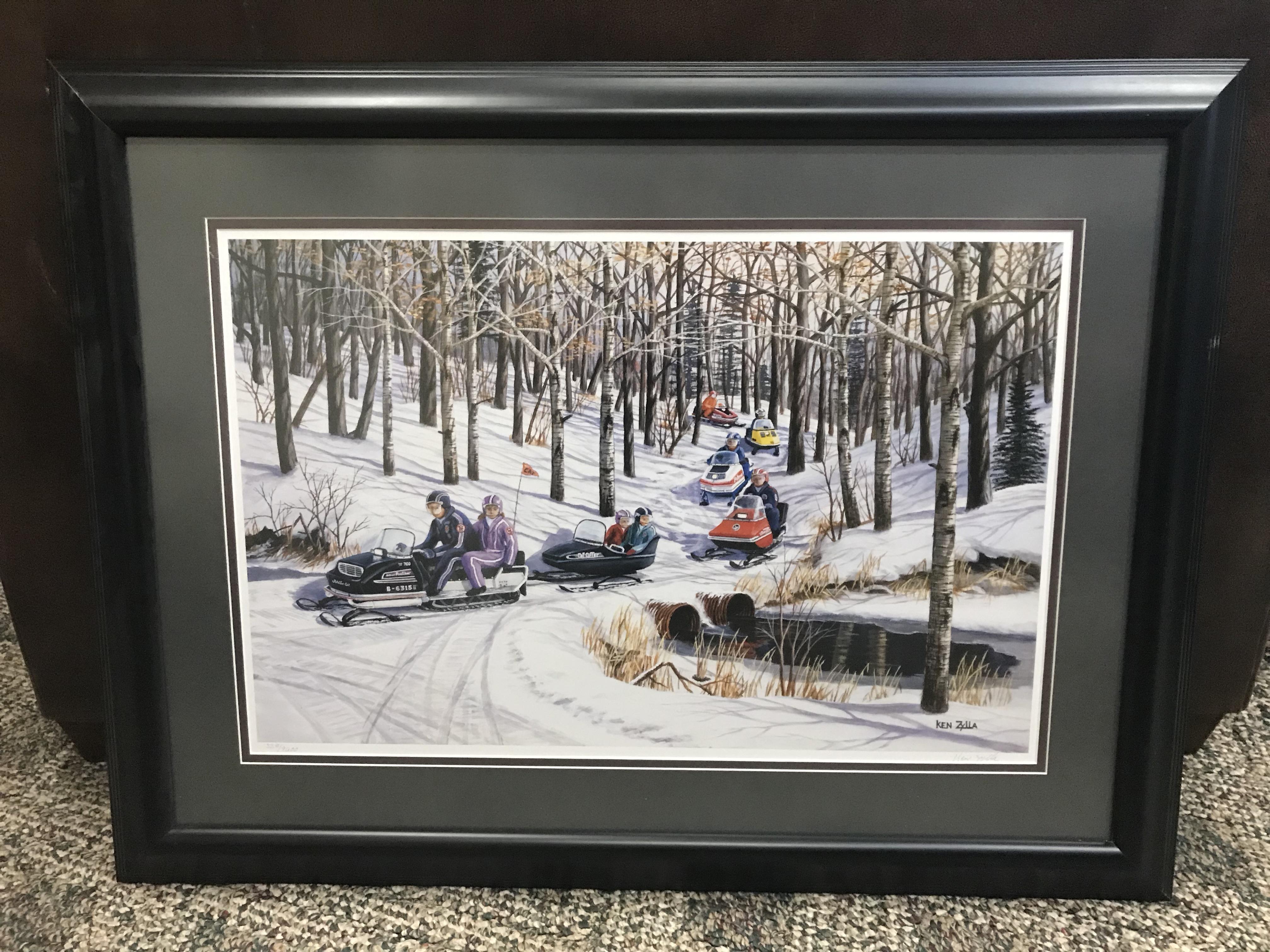 Ken Zilla Snowmobiling Print
