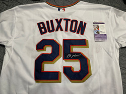 Byron Buxton Autographed Jersey with COA donated by Brian Schumacher!