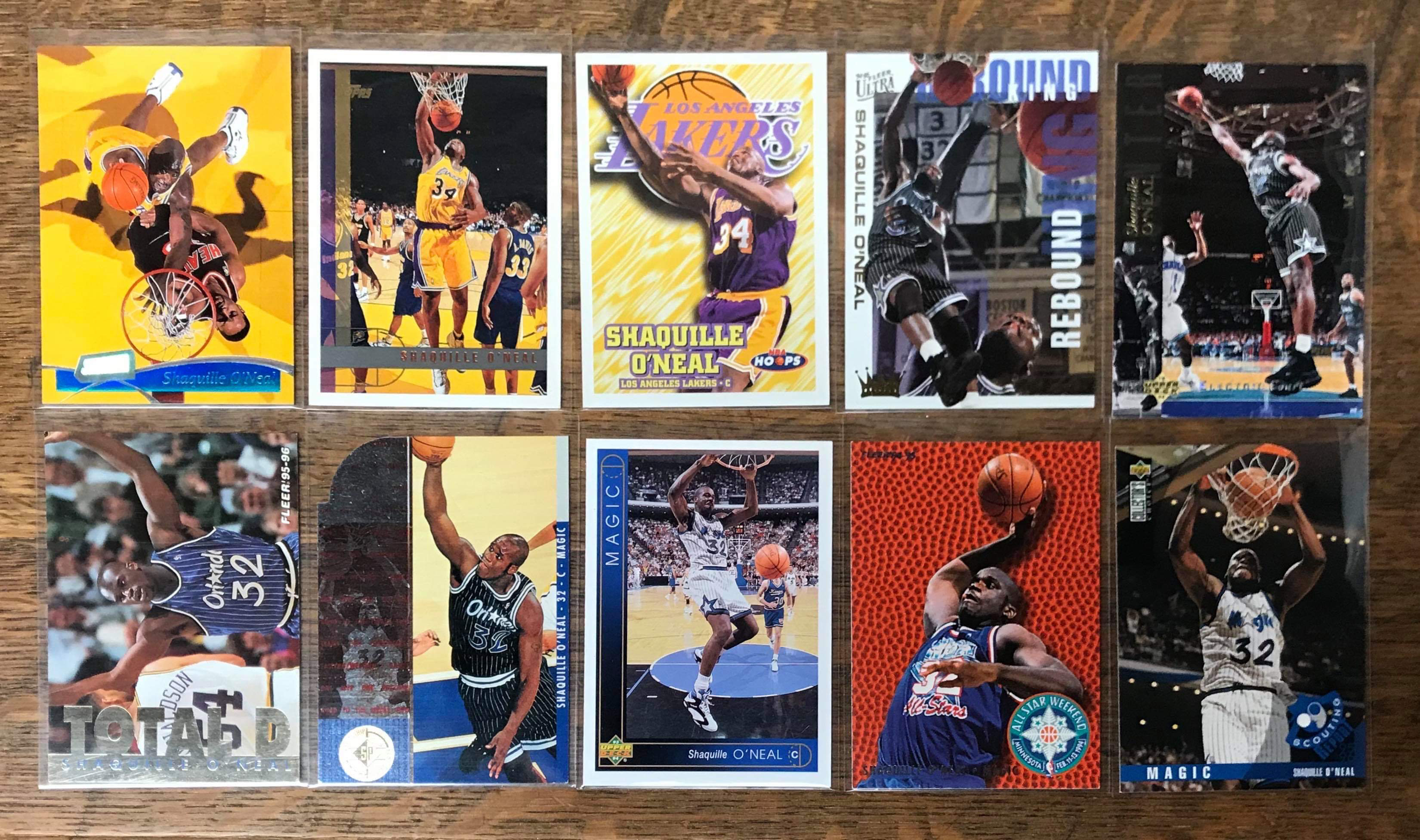 10 - Shaquille O'Neal Cards donated by Justin Skjerven