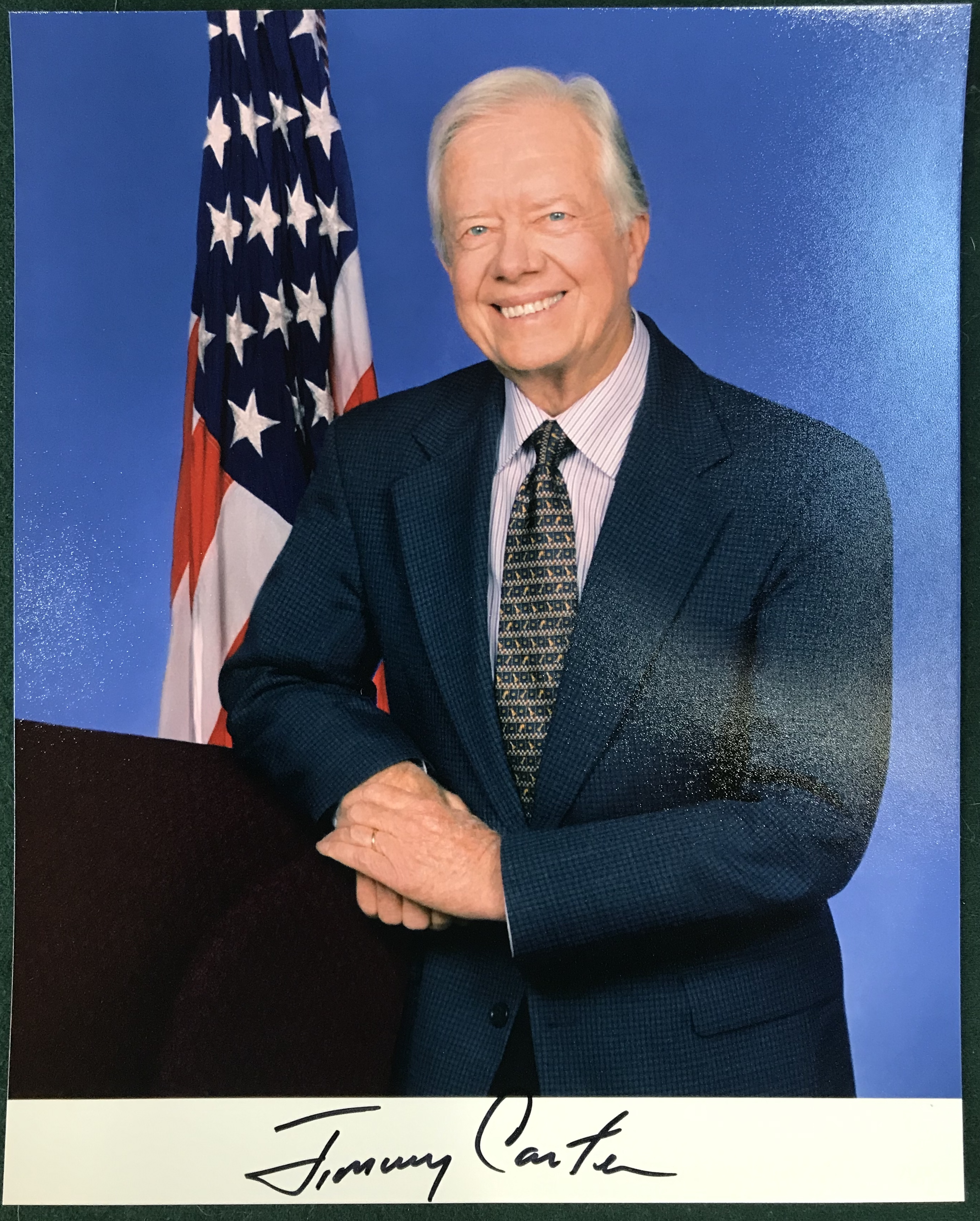 President Carter Autographed Photo
