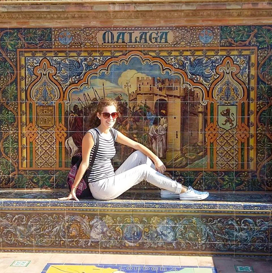 Martina on a trip to Seville, Spain